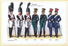 Plate 20: 4th Cavalry Regiment, 1805-1820 by Leo Ignaz von Stadlinger - Geschichte des württembergischen Kriegswesens - Uniforms of the troops of Württemberg