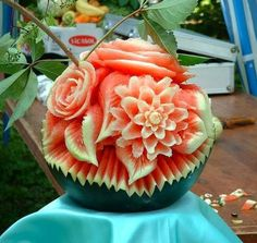 Fruit carving www.exoticjuicingrecipes.net