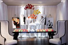 1960's theme party - Bing Images - love the images on easels