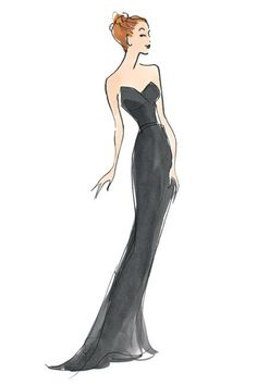 100 iconic dresses: fashion illustration at its finest
