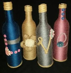 LOVE wine bottle home decor