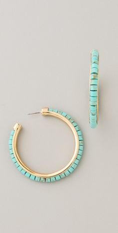Michael Kors turquoise hoops (used to have these but I got mine at the stampede and they weren't Michael kors)!