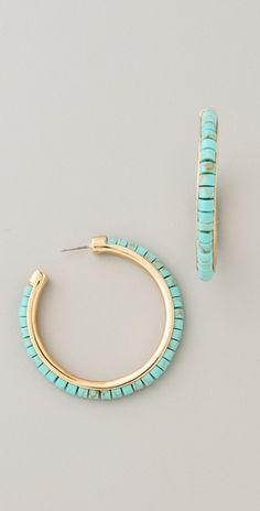 Michael Kors Turquoise Hoops - definite diy possibilities