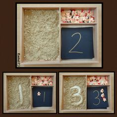 """Number recognition, counting and mark making (in ginger) - from Rachel ("""",)"""