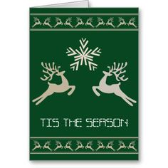 Reindeer Ugly Sweater Card