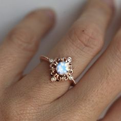 Vintage Moonstone Ring in Solid Gold, Victorian Engagement Ring, Blue. - Vintage Moonstone Ring in Solid Gold, Victorian Engagement Ring, Blue… NZD) ❤ liked on P - Rose Gold Moonstone Ring, Ring Rosegold, Rainbow Moonstone Ring, Moonstone Jewelry, Silver Ring, Victorian Engagement Rings, Vintage Engagement Rings, Vintage Rings, Diamond Engagement Rings