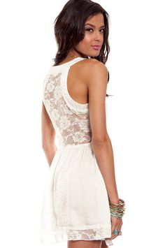 Day Lace Dress in Ivory at tobi.com