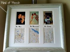 One Year Anniversary Gift (Paper theme). We Met. We Married. We Lived. with photos