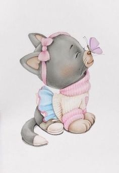 Baby Animal Drawings, Cute Cartoon Drawings, Cartoon Pics, Clipart Baby, Cute Images, Cute Pictures, Baby Prints, Nursery Prints, Baby Animals