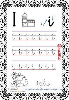Cuaderno de trazos Imágenes Educativas Letras Escolar – Imagenes Educativas Free Kindergarten Worksheets, Alphabet Worksheets, English Alphabet, Kids And Parenting, Kids Learning, Letters, Reading, French, Handwriting