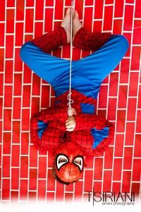 Is it just me or is Spiderman parallel to the brick rather than perpendicular? © Siriani Photography   Spokane Valley, WA