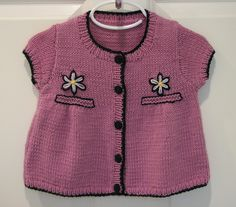 Ravelry: Project Gallery for Design D - Girl's Long & Short Sleeved Smock Cardigan with Flowers pattern by Sirdar Spinning Ltd.
