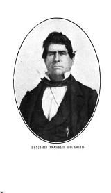 BenjaminBeckwithHe was born February 1, 1810, in Abbeville District, South Carolina. His father died while he was quite young, leaving his. mother with two small children