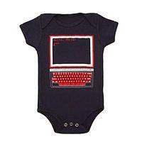 """Hello, World!"" onesie. Gotta get them to start coding early.  HELLO WORLD BABYSUIT|UncommonGoods"