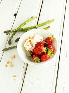 bruschetta fraise burrata asperges