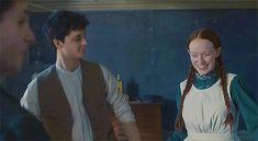 Animated gif about love in anne with an e by sweetheart 2 Movie, Series Movies, Lucas Jade Zumann, Amybeth Mcnulty, Gilbert And Anne, Meeting Of The Minds, Anne White, Gilbert Blythe, Anne With An E