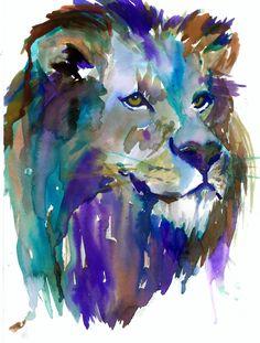 """The King"" by Jessica Buhman, print of original watercolor"