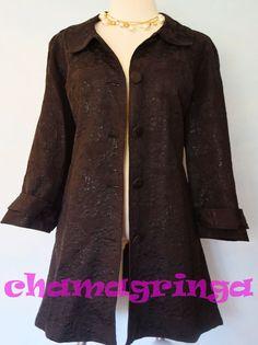 Lane Bryant black jacquard shimmer duster long jacket size 22 EUC!