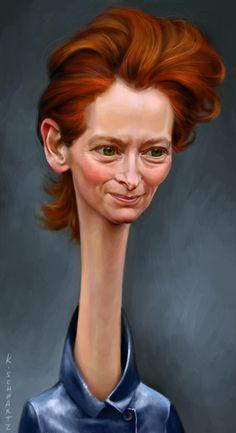 Tilda Swinton by *KaceySchwartz on deviantART