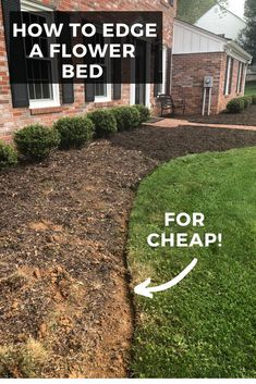 Learn how to easily edge a flower bed and bet a beautiful, high-end result!