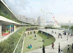 Former Renault Factory In France Becomes An Undulating Green-R...