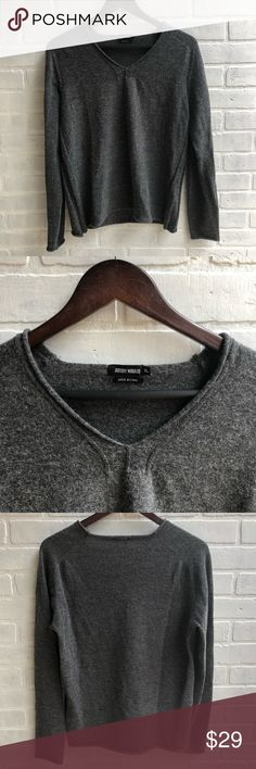 Antony Morato wool sweater Wool / acrylic blend, soft!  Size is XL but it shrunk so it fits more like a medium. Antony Morato Sweaters V-Neck