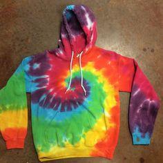 Tie Dye Rainbow Spiral Hoodie