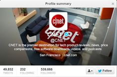 Top 10 People To Follow On Twitter For Technology News and Updates @CNET