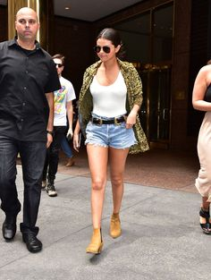 Pin for Later: Feast Your Eyes on 2015's Hottest Pictures of Selena Gomez  This Summer, Selena wore lots of swimsuits as tops, leaving little to the imagination.