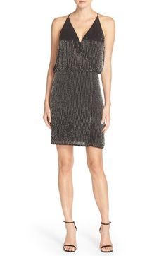 Free shipping and returns on Adrianna Papell Beaded Woven Blouson Dress at Nordstrom.com. Faceted silver beading paints luminous pinstripes down a faux-wrap dress that's alluring without revealing too much.
