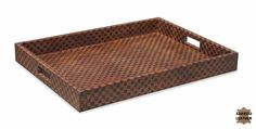 #LouisVuitton styled #Tray Service Leather Checkered Patterned on Hardwood #New Free shipping