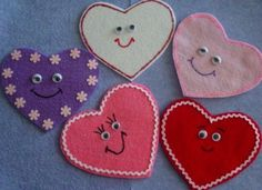 VALENTINE HEARTS Children's Flannel Board Felt by FunFeltStories, $10.00