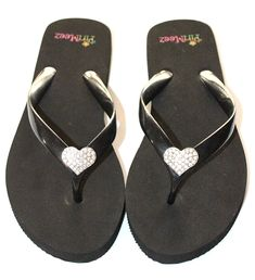 04cb863b757e4f PinMeez Flip Flops With Interchangeable Bling hearts Women s    Sincerely  hope that you do like our picture. (This is an affiliate link)   womensflipflops