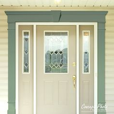 In Law House, Off White Paints, Door Casing, Shutter Doors, Remodeling Mobile Homes, French Country Cottage, Entry Doors, Windows And Doors, French Doors