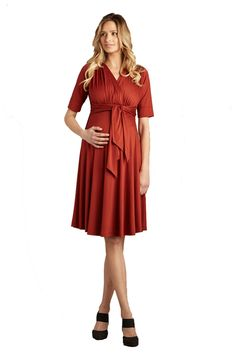 Original Front Tie Maternity Dress by Maternal America | Maternity Clothes    available at www.duematernity.com