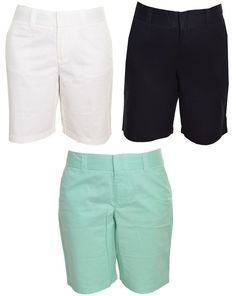 Tommy Hilfiger Walking Shorts Bermuda Long 100% Cotton Golf Twill Chino NWOT #TommyHilfiger #BermudaWalking