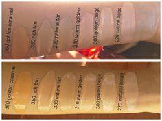 360 golden caramel medium-dark shade matches great with yellow undertones 350 rich tan medium shade if you search. Revlon Colorstay Foundation, Makeup Swatches, Makeup Essentials, Beauty Hacks, Beauty Tips, Beauty Ideas, Perfect Makeup, Hair Hacks, Hair Tips
