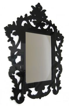 3mm Laser Cut Acrylic Rococo inspired Baroque Mirror Frame by Paisley Fox