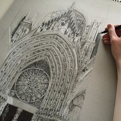 I really need to finish Notre Dame... #art #drawing #pen #sketch #illustration #linedrawing #notredame #paris #architecture #cathedral #france #fabercastell