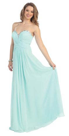 Sweetheart Strapless Rhinestones Rouhing Plus Size Floor Length Bridesmaid Dress