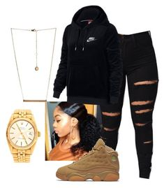 by colourmejayy on Polyvore featuring polyvore fashion style NIKE Rolex BCBGeneration clothing
