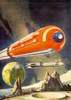By Frank R. Paul The Father of Science Fiction Art Art Science Fiction, Pulp Fiction, Arte Sci Fi, Sci Fi Art, Vintage Space, Vintage Art, Classic Sci Fi, Futuristic Art, Pulp Art