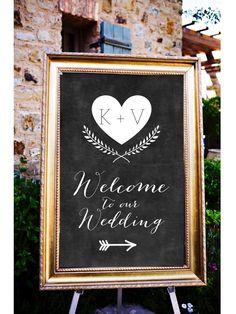 Tafel-Willkommen auf unserer Hochzeit-Schilder, Pfeilzeichen Hochzeit, Hochzeit-Richtungsanzeiger, Willkommen bei unserer Zeremonie Schilder, druckbare Hochzeit-Poster von LCOonEtsy auf Etsy https://www.etsy.com/de/listing/218369269/tafel-willkommen-auf-unserer-hochzeit