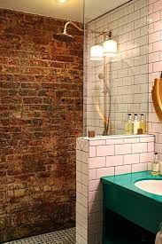 Résultats de recherche d'images pour « brick wall shower »
