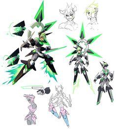 Jota Concepts from Azure Striker Gunvolt