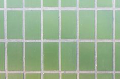 facade of green mat ceramic tile texture geometric figures rectangles