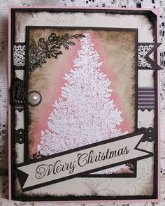 Christmas Card Stampin' Up Hand Made by JulieAnnesTreasures, $5.50