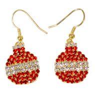 Red bauble earrings