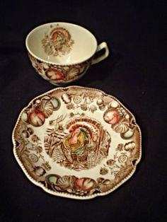 """LOVE THIS!  been looking for it for years.  Johnson Bros """"His Majesty"""" thanksgiving turkey"""