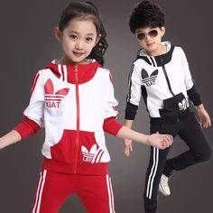 2016 primavera nueva caída y ropa de invierno ropa para niños niñas niños  deportes traje ropa ef90f5746e938